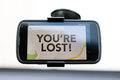 You're Lost type on a GPS smart phone