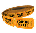You're Next Ticket Roll Take Your Turn Customer Service Royalty Free Stock Photo