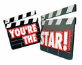 You're the Star Movie Clappers Royalty Free Stock Photo