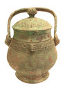 You vessel made by biqi for the sixth sacrificial rite late shang dynasty in chinese history Royalty Free Stock Photo