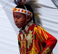 Young Aboriginal Boy With Headdress Royalty Free Stock Photo