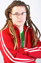 Young adult with dreadlocks Royalty Free Stock Images