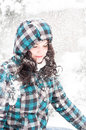 Young adult at winter Royalty Free Stock Photography