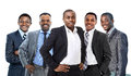 Young african american business man leading a team Royalty Free Stock Photos