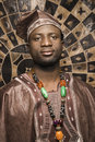 Young African American Man in Traditional African Royalty Free Stock Images