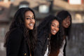 Young african american teenage girls Royalty Free Stock Photos