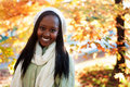 Young african american woman outside smiling Royalty Free Stock Photos