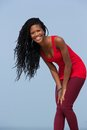 Young african american woman smiling Royalty Free Stock Photo