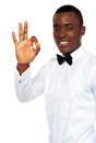 Young african boy showing okay gesture Royalty Free Stock Photo