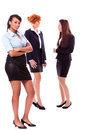 Young african business woman and female team isolated Royalty Free Stock Photo