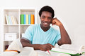 Young African Man Studying Royalty Free Stock Photo