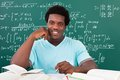 Young African Man Studying In University Royalty Free Stock Photo