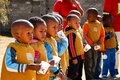 Young African Preschool children playing on the playground Royalty Free Stock Photo