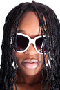 Young afro-american woman in glasses Stock Image