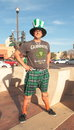 Young american dressed up to celebrate st patrickâ s day march tempe arizona usa Royalty Free Stock Image