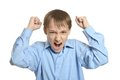 Young angry boy Royalty Free Stock Photo