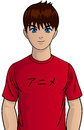 Young anime teen vector illustration of character Royalty Free Stock Photography