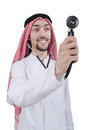 Young arab doctor with stethoscope Stock Photos