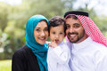 Young arabian family modern portrait outdoors Stock Images
