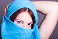 Young arabic woman portrait of Royalty Free Stock Photography