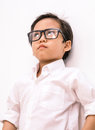 Young asian boy angry Royalty Free Stock Photo