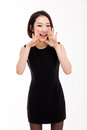 Young Asian business woman say something Royalty Free Stock Photo