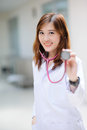 Young asian doctor at hospital portrait Stock Photography