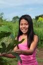 Young Asian girl Royalty Free Stock Photos