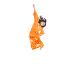 Young asian girl jumping happily xi malay wearing a traditional malay dress the baju kurung Stock Images