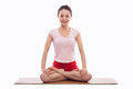 Young Asian woman  exercise yoga Royalty Free Stock Photography