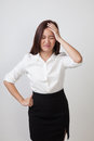 Young Asian woman got sick and  headache. Royalty Free Stock Photo