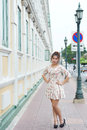 Young asian woman outdoor portrait model is thai Stock Photo