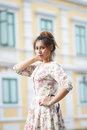Young asian woman outdoor portrait model is thai Stock Images