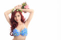 Young Asian woman wearing lingerie Royalty Free Stock Photo