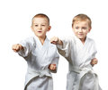 Young athletes are hitting punch Royalty Free Stock Photo