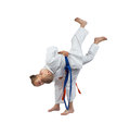 Young athletes are training judo throws Royalty Free Stock Images