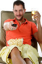 Young attractive caucasian man, relaxing Royalty Free Stock Photos