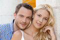 Young attractive couple amorous portrait of summer vacation in love Stock Photo
