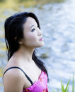 Young Attractive Japanese American Woman Outdoor Portrait Royalty Free Stock Photo