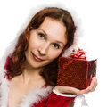Young attractive woman with a gift Stock Photo