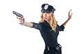Young attractive woman police Royalty Free Stock Images