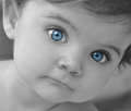 Young Baby Portrait Closeup Royalty Free Stock Photography