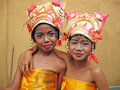 YOUNG BALINESE DANCERS Royalty Free Stock Photo