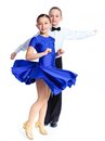 Young ballroom dancers Stock Photos