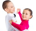 Young ballroom dancers Stock Images