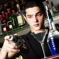 Young barman Royalty Free Stock Photography