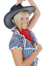 Young beauti cowgirl. Stock Photo