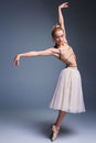 Young Beautiful Ballerina Danc...
