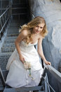 Young beautiful blonde woman in bridal dress Royalty Free Stock Photo
