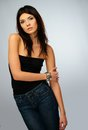 Young beautiful brunette woman Royalty Free Stock Photo